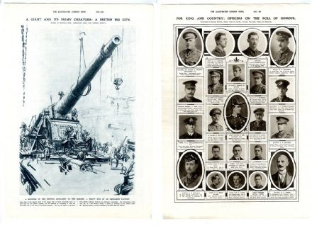 1917 Print WW1 MUIRHEAD BONE Ordnance Factory HEAVY GUN Officers Roll of Honour